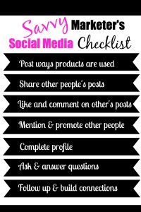 savvy marketers SM checklist